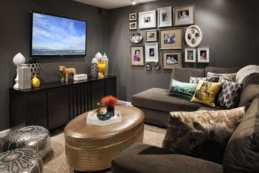Perfect-shade-of-gray-for-the-dark-and-moody-tv-room