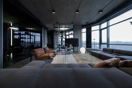Picturesque apartment design with dark masculine interior 1