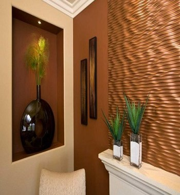 Pleasing copper earth tones Perfectly Blending Living Room Ideas With Earth-Tone Style