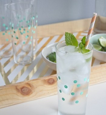 Polkadot glasses DIY Colored Creative Ideas To Update Your Glassware To The Next Level