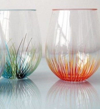 Pop of color firework pattern glassware DIY Colored Creative Ideas To Update Your Glassware To The Next Level