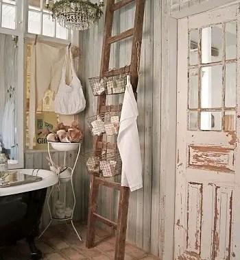 Shabby chic earth tone bathroom Respecting Nature With Inviting Earth Tone Bathroom Design Ideas