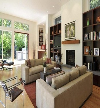 Warm and varied earth tone Perfectly Blending Living Room Ideas With Earth-Tone Style