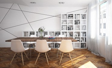 Geometric-dining-room-with-classic-floors