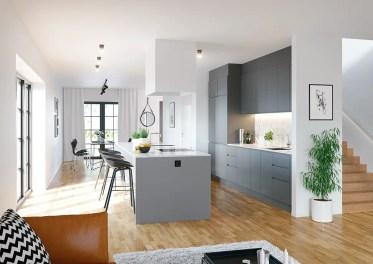 Grey-benches-checkered-floor-art-deco-kitchen