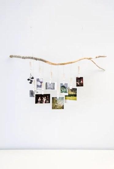 Handmade-tree-branch-photo-hanger