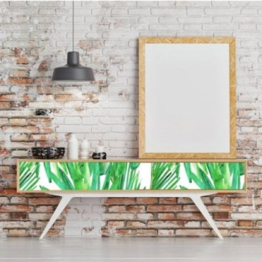 1-06-a-tropical-leaf-printed-long-console-table-will-turn-your-entryway-or-living-room-bold-and-chic