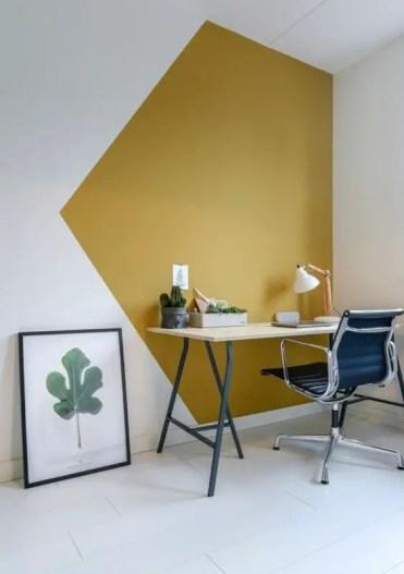 1-21-senape-e-bianco-geometrico-blocco-colore-renderà-la-tua-casa-ufficio-eccentrica e audace