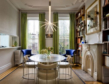 1-add-green-to-the-dining-room-with-some-delicate-drapes