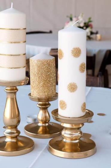 1-decorated-candle-ideas-gold-glitter