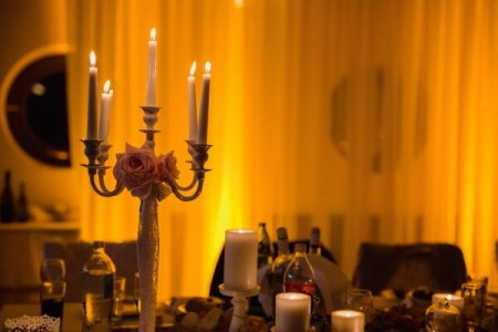 Add candlelight to the living room