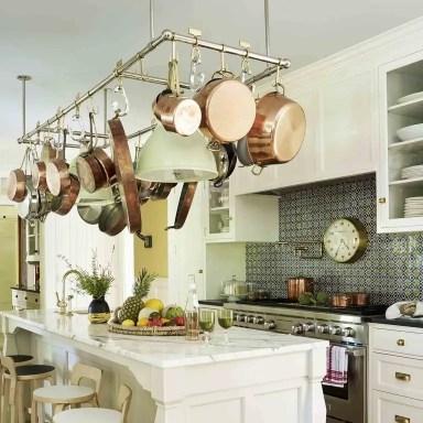 Antique portuguese tile kitchen backsplash