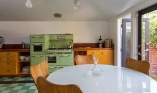 Apple green kitchen