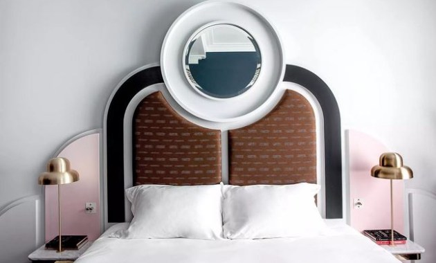 Art deco headboard