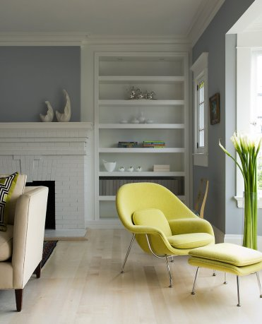 Chartreuse-womb-chair