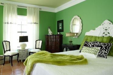 Eclectic-budget-bedroom-design-with-loads-of-green