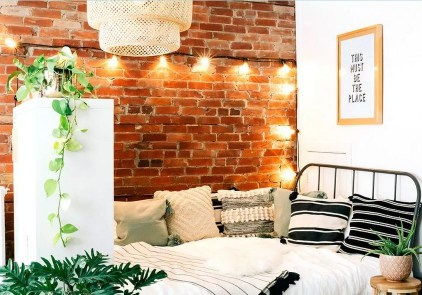 Exposed bricks with awesome light