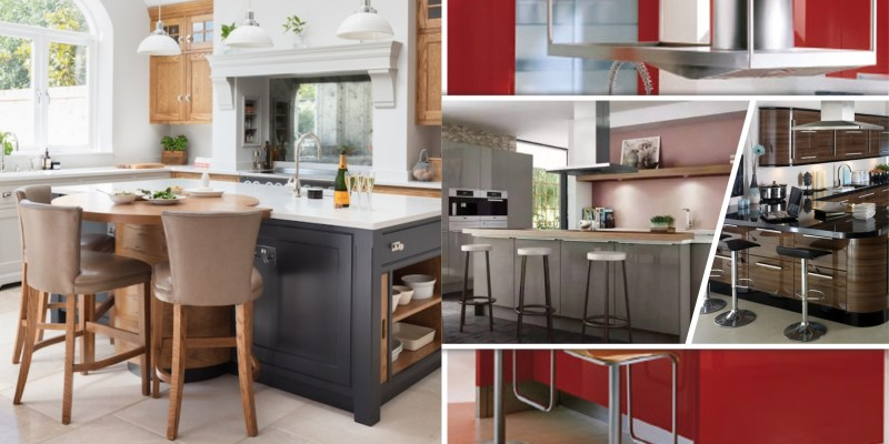 High gloss kitchen style to style with earth tone design ideas 2