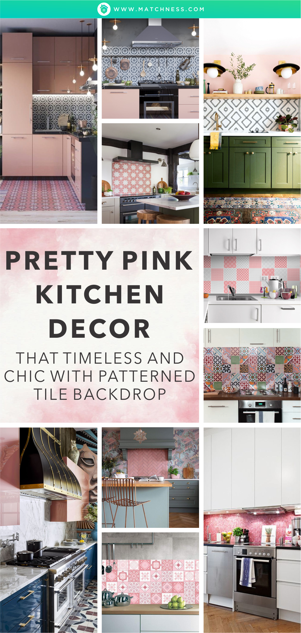Pretty-pink-kitchen-decor-that-timeless-and-chic-with-patterned-tile-backdrop-1