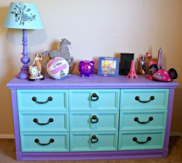 Purple-and-mint-chalkpaint-drawers