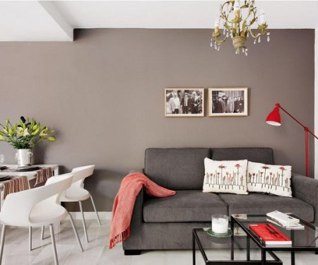Small apartment interior design with interesting game of colors 1