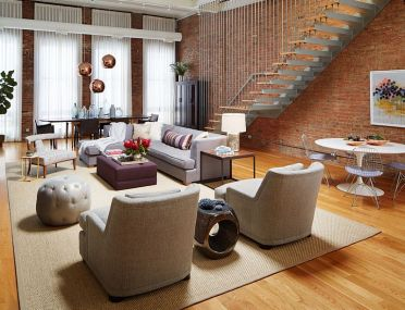 Stylish-living-room-of-an-urban-loft-in-chicago