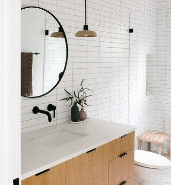 Keep Your Counters Clean With Minimalist Bathroom Storage