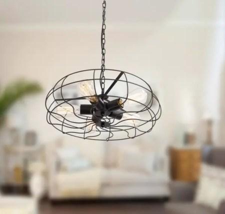 A fan-style design lighting fixtures