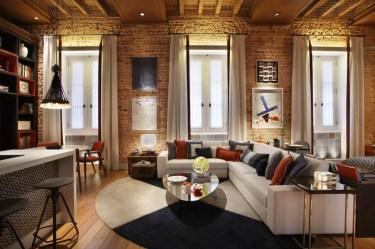 Arty-loft-brick-house-designs