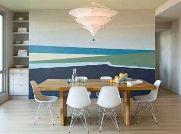 Pittura murale geometrica della sala da pranzo