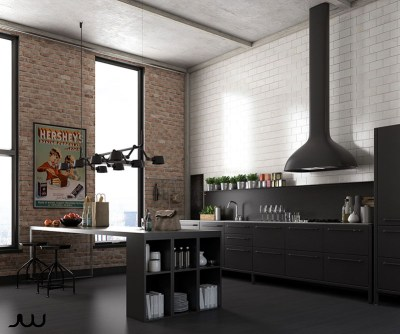 Kitchen with an industrial touch