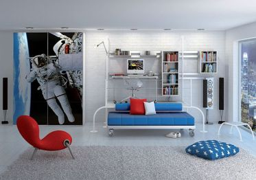 Living-room-decorating-with-a-space-theme