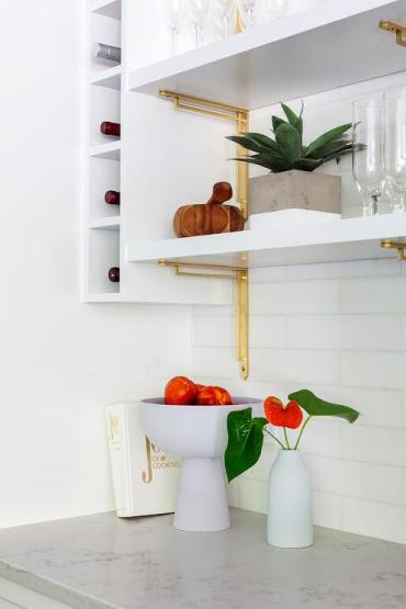 Stacked-white-and-gold-kitchen-shelves