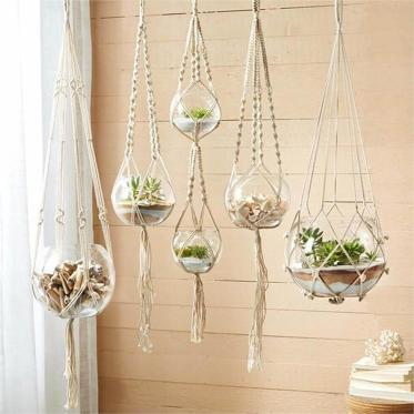 1-03-glass-planters-suspended-from-macrame-hangings