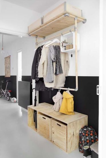 19-a-plywood-storage-bench-with-an-open-compartment-and-drawers-is-a-practical-solution