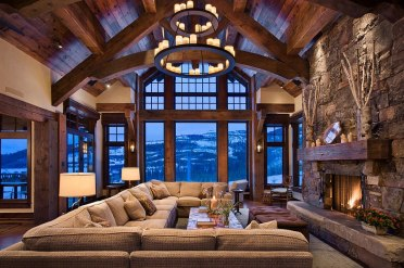 Chalet-style-living-room-has-an-imposing-presence