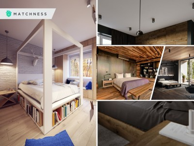 Earthy interior decor of wooden bedroom to envy in every angel 2