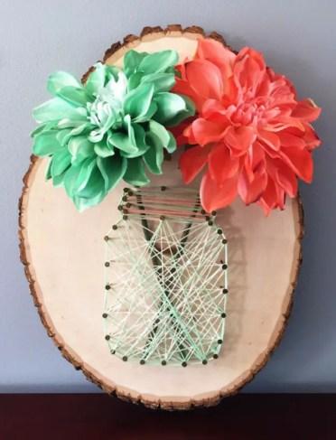 Mason-jar-string-art