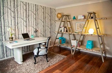 Pops-of-color-used-to-decorate-the-unique-shelves