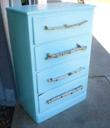 Tree-branch-diy-drawer-pulls-on-baby-blue-dresser