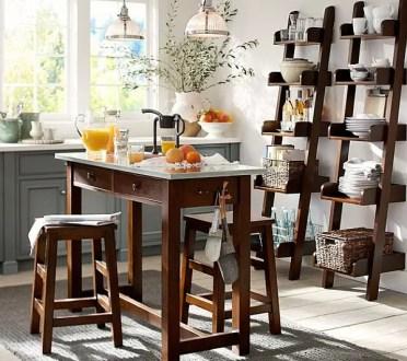 Wooden-ladder-shelves-in-the-modern-kitchen