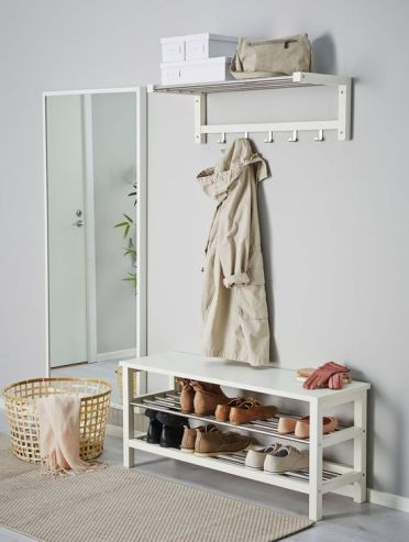 07-a-modern-white-entryway-bench-with-a-double-shoe-rack-is-a-great-ideafor-a-modern-space