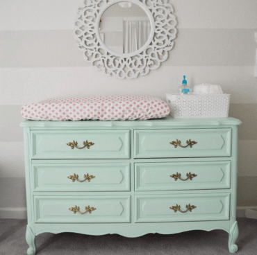 18-mint-colored-dresser-repurposed-into-a-diaper-changing-table