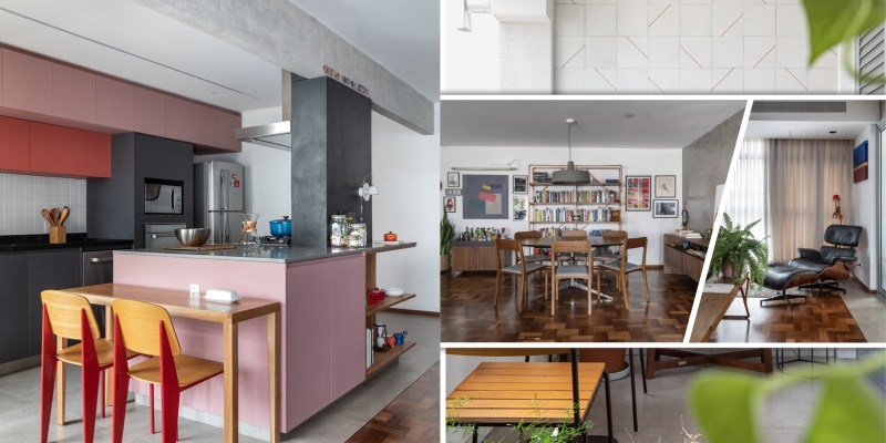 Apartment design with unusual colors and materials for a bold personality 2