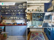 Gorgeous blue color plate racks ideas that give you a calming and noble feeling 1