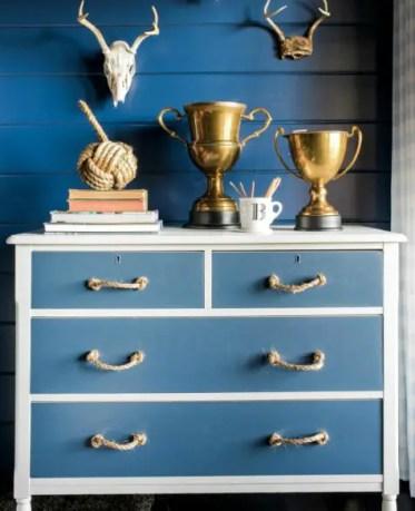 Blue-painted-nautical-dresser