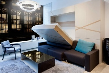 Contemporary-living-room-sectional-sofa-murphy-sofa-bed-low-coffee-table