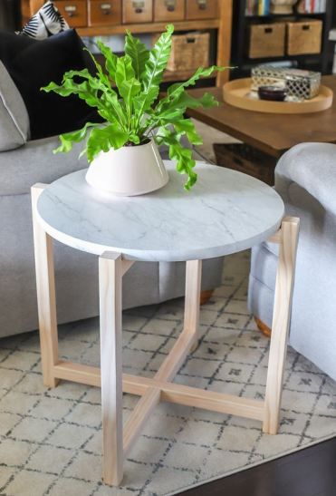 24-a-stylish-side-table-or-plant-stand-with-wooden-legs-and-a-white-marble-tabletop-is-a-stylish-idea