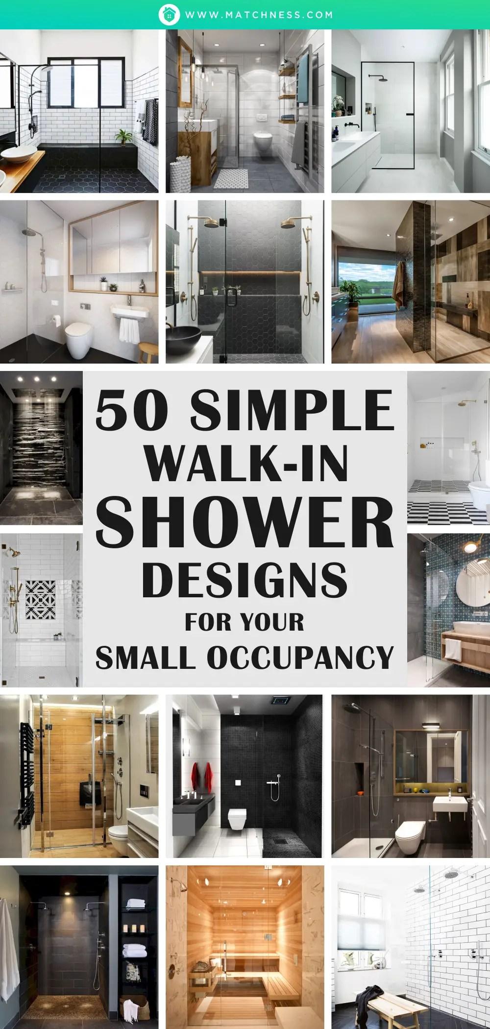 50 semplici modelli di doccia walk-in per la tua piccola occupazione1