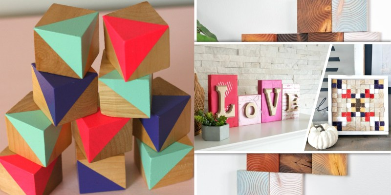55 interesting wood block art ideas for your home decor2